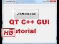 [Qt C++ Tutorial for beginners] QT C++ GUI Tutorial 25- How to run EXE file by clicking a button in