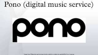 Gambar cover Pono (digital music service)