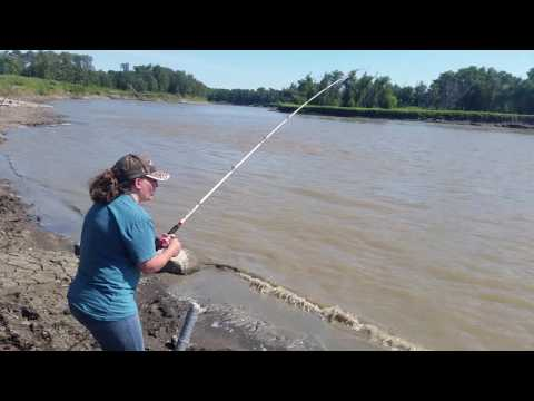 Catfishing on the Red River of the North