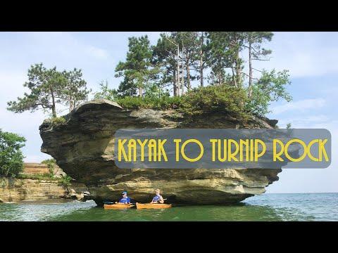 Kayaking to Turnip Rock, Port Austin, Michigan  -- Haven't Seen It Yet