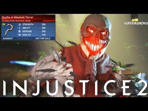 "Legendary Scarecrow Nightmare! - Injustice 2 ""Scarecrow"" Legendary Gear Gameplay"