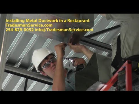 Commercial Metal Duct Installation
