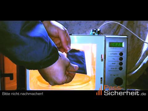 Pass-Sicherheit: RFID-Chip Wird In Der Mikrowelle Durch RFID-Schutzhülle Nicht Zerstört