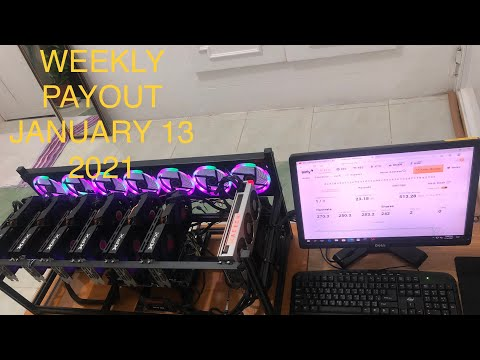 Crypto mining profit   weekly payout January 13 2021   cleaning tips para sa mining rigs