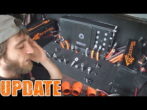 16 RUNS OF WIRE... Lithium Car Audio Install UPDATE w/ TheAmpLab Battery & 12v Deep Cycle AGM BANK