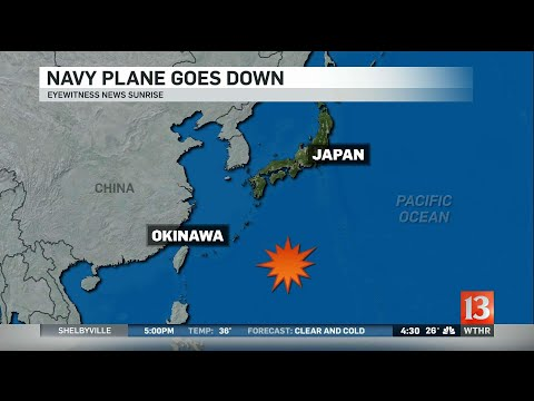 Navy plane crashes in Pacific Ocean near Okinawa