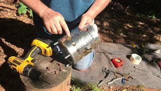 How To Build One Of The Fastest Starting, Hottest Burning Hobo Stoves On The Planet!