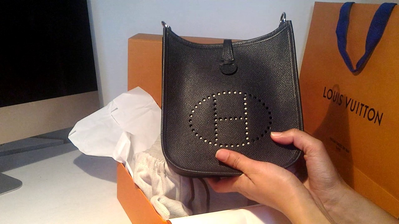 HERMES EVELYNE MINI UNBOXING - YouTube 4085b3951