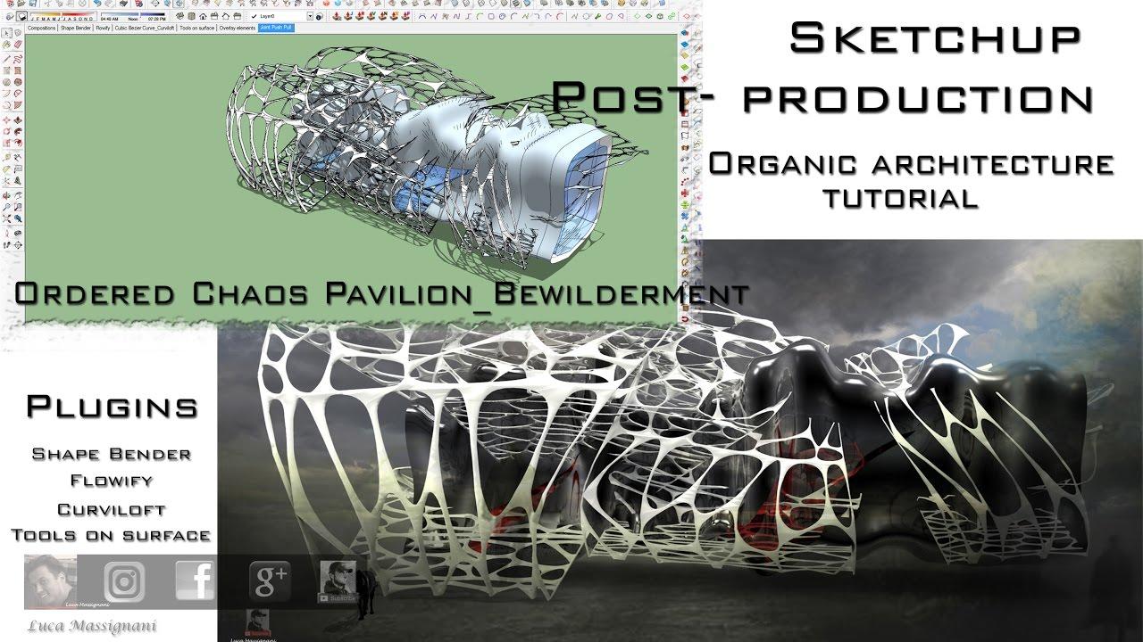 Flowify Shape Bender Voronoi Curviloft SketchUp Organic Architecture