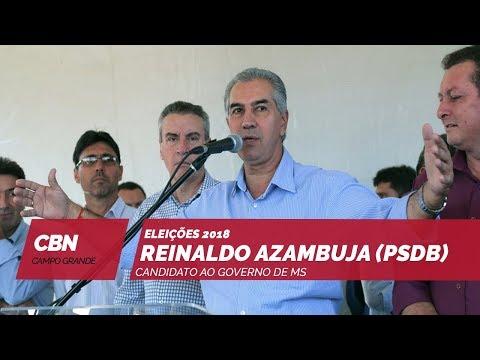 Entrevista CBN Campo Grande: Reinaldo Azambuja (PSDB) candidato ao governo de MS (23/10/2018)