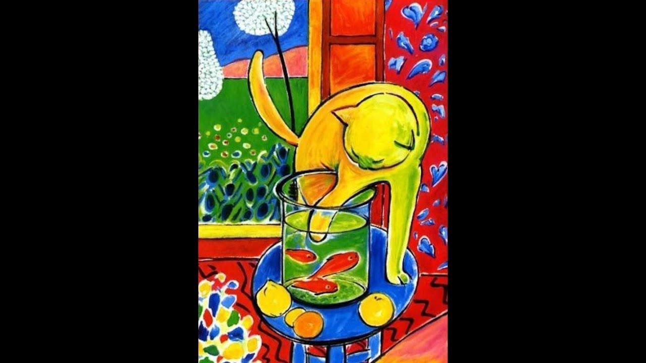 Yellow Cat Framed Print  by Henri Matisse