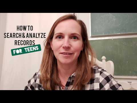 How To Search & Analyze Records With The FamilyTree App - For Teens