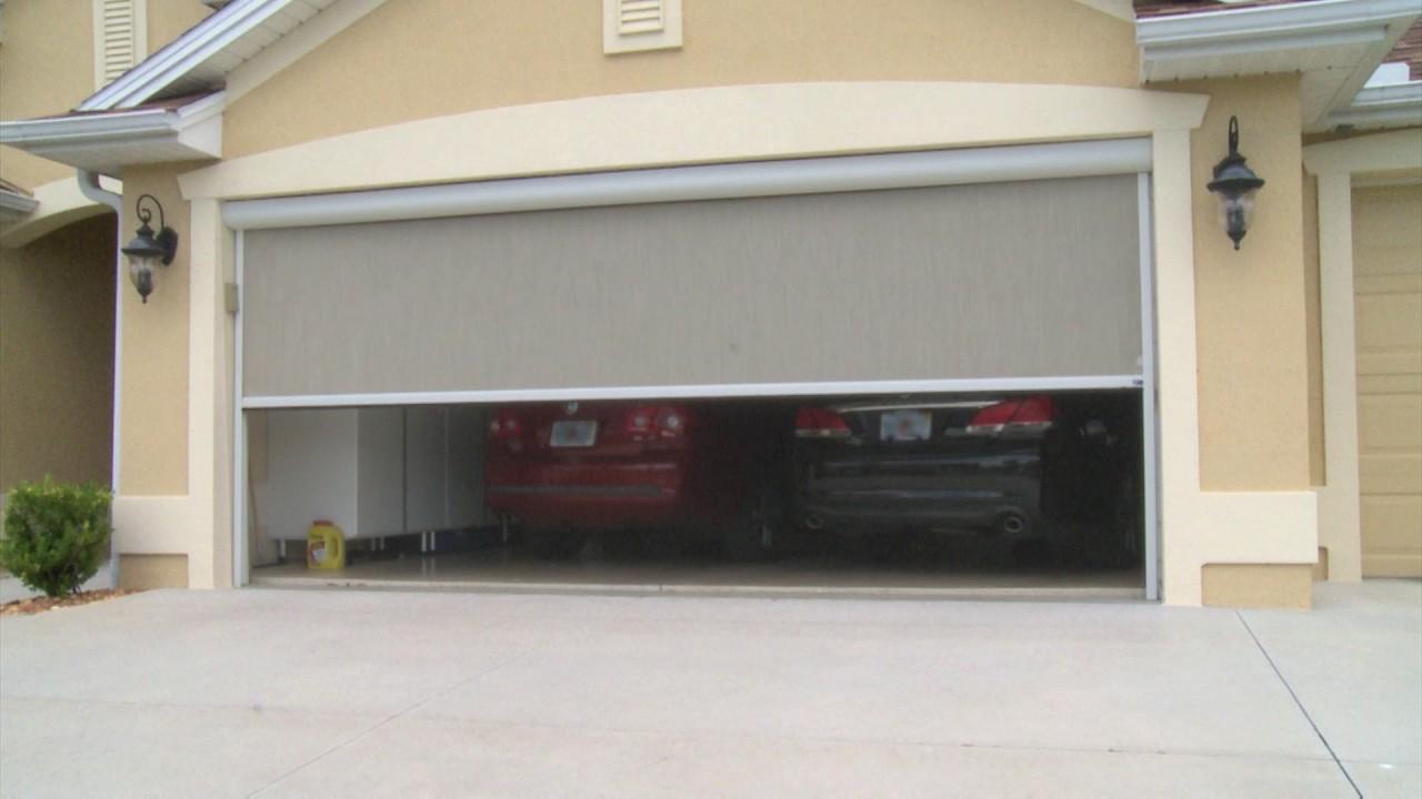 retractable garage door screens