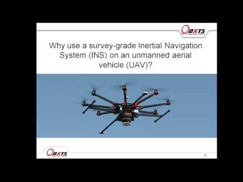 Why use a survey-grade Inertial Navigation System for Unmanned Aerial Systems