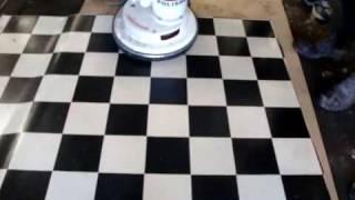 vinyl floor surface coated with WearMax - the next generation in protective floor coatings