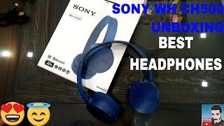 SONY WH CH500 headphones unboxing