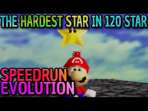 SM64 Speedrun Evolution: The HARDEST Star In 120 Star