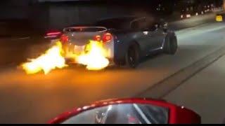 37 min of none stop GTR racing (Ferraris,hellcats,C8 & money races)