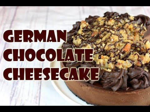 Vegan German Chocolate Cheesecake || Gretchen's Bakery