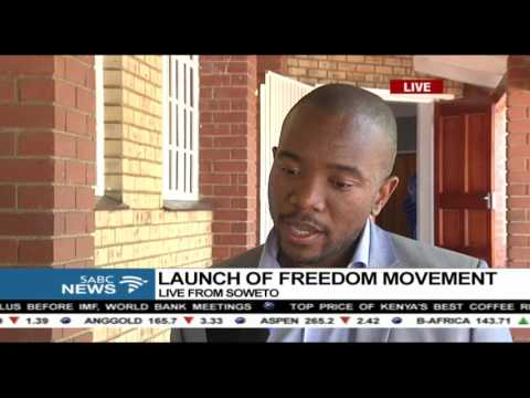 Mmusi Maimane on the launch of freedom movement