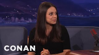mila kunis parents didn t tell her they were moving from russia to america conan on tbs
