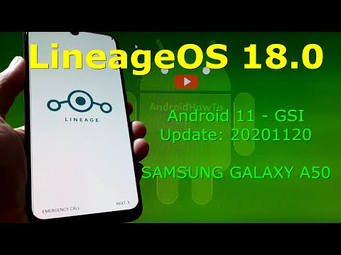 LineageOS 18.0 Android 11 for Samsung Galaxy A50 Update: 20201120