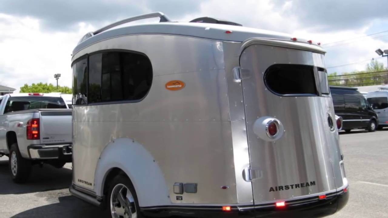 used airstream basecamp for sale toy hauler camping trailer small bambi tiny teardrop youtube. Black Bedroom Furniture Sets. Home Design Ideas