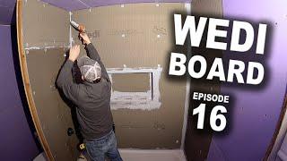 How to Waterproof Shower Surround with Wedi Board - DIY Bathroom Remodel Episode 16
