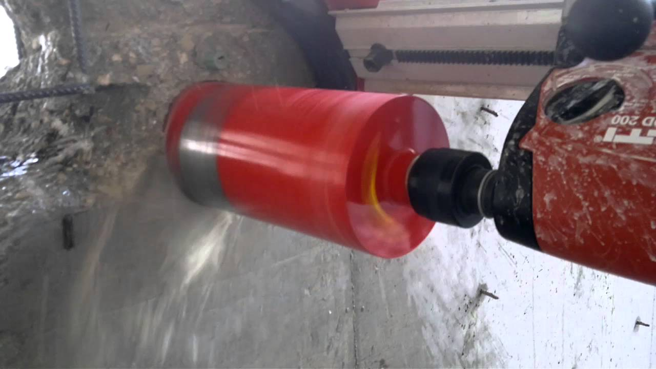Hilti Dd 200 Core Drill 152 Mm Youtube