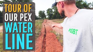 Tour of our DIY PEX Water Line Plumbing   Water is Life