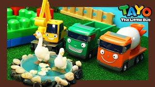 Мощные большегрузные автомобили l Давайте построим зоопарк l Приключения Тайо
