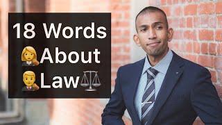 18 Law & Crime Words | Speak Like David | English Vocabulary Lesson