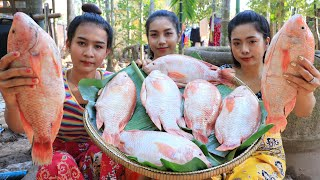 Red fish with salt cooking recipe it is very tasty  Natural Life TV