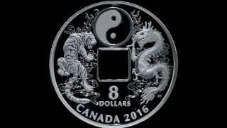 Pure Silver Coin – Tiger and Dragon Yin and Yang