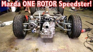 Mazda ONE ROTOR gets MOUNTED in the PORSCHE SPEEDSTER! *So Much Room!!*