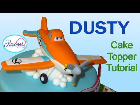 Cómo hacer a Dusty para tortas /How to make Dusty (Cake Topper)