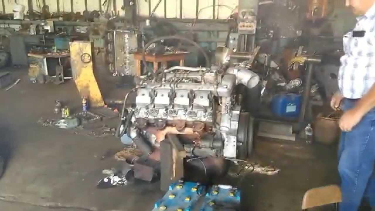 Первый запуск двигателя 740.10-210 после сборки.