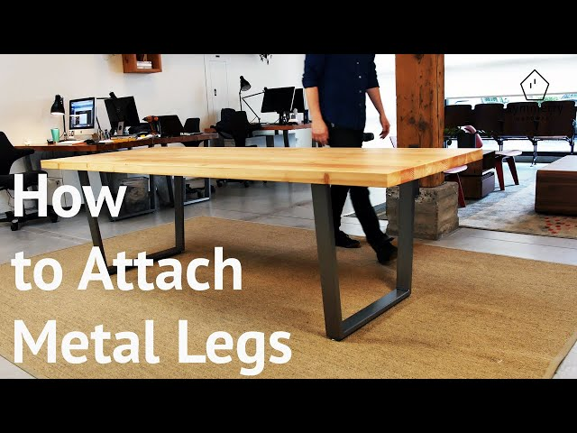 How To Attach Metal Legs A Wood Table Top You - How To Attach Table Legs Diy