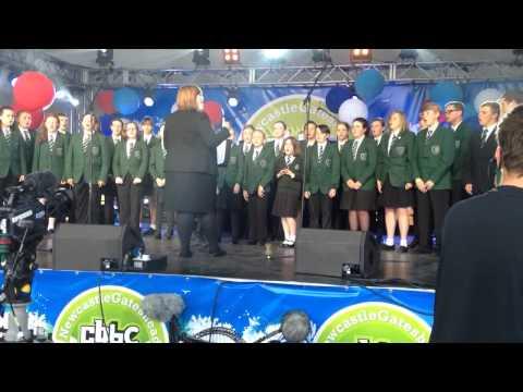 Bede Academy choir at CBBC LIVE