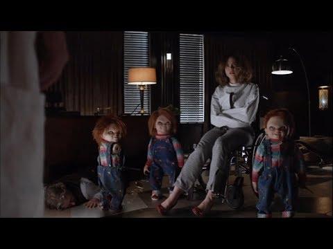 Escena de los 3 Chuckys Español Latino El Culto de Chucky