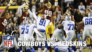 Cowboys vs. Redskins | Week 13 Highlights | NFL