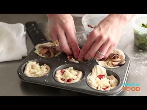 Mini Deep-Dish Pizzas | Everyday Food with Sarah Carey