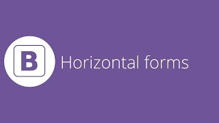 Bootstrap tutorial 13 - Horizontal forms