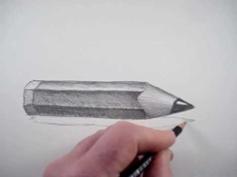 How to draw a pencil in 3d
