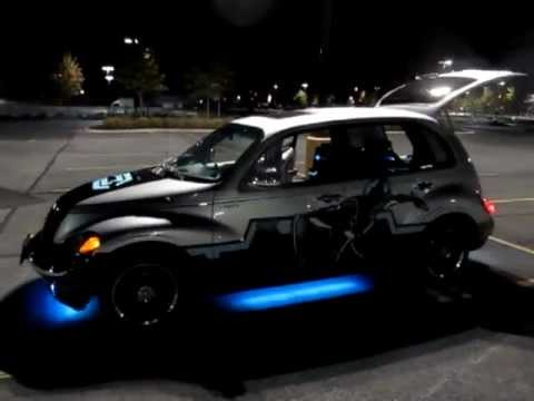 Tron Themed Pt Cruiser With Beat