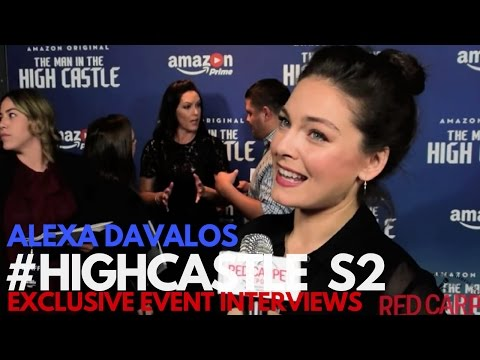 Alexa Davalos Interviewed At The Man In The High Castle Season 2 Premiere #HighCastle
