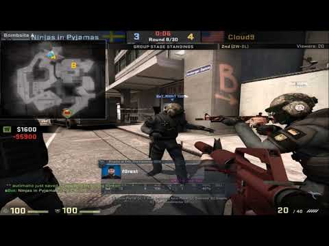 POV - f0rest (NiP)(24-7) vs Cloud9 / overpass / IEM Oakland 2017