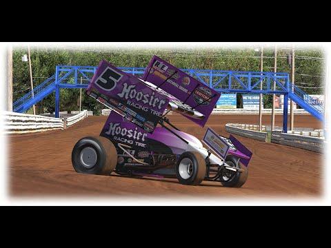 Hoosier Sprint car race at volusia speedway park