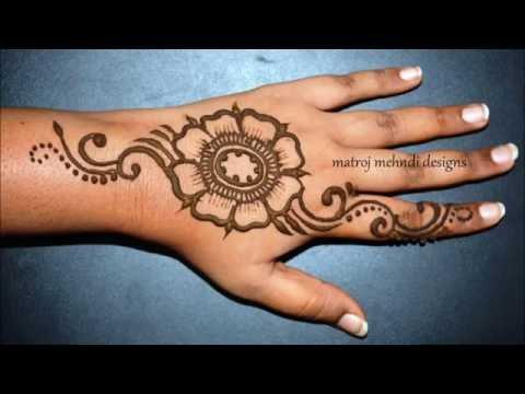 How To Do Simple Beautiful Henna Mehndi Designs For Hands Matroj