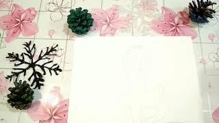 Балерина из бумаги . Декор комнаты.